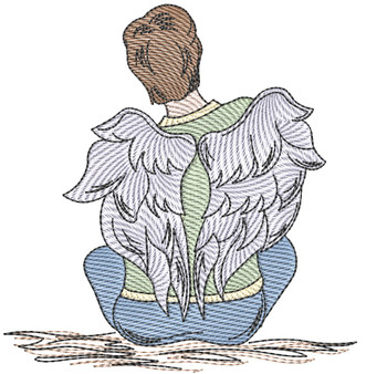 "Angel  - Fits into a 4x4"", 5x7"" & 8x8"" Hoop - Instant Downloadable Machine Embroidery"
