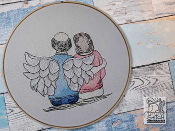"Guardian Angel 4 - Fits into a 4x4"", 5x7"" & 6x10"" Hoop - Instant Downloadable Machine Embroidery"