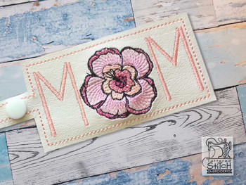 """Mom Keychain - Fits a 5x7"""" Hoop - Machine Embroidery Designs"""