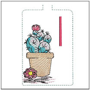 """Prickly Pear ABCs Keychain - I - Fits a 5x7"""" Hoop - Machine Embroidery Designs"""