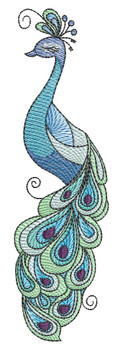 """Peacock -  Fits a 4x4"""",  5x7"""" & 6x10"""" Hoop - Machine Embroidery Designs"""