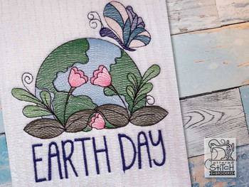 """Earth Day -  Fits a 4x4"""", 5x7"""" & 6x10"""" Hoop - Machine Embroidery Designs"""