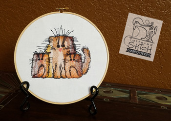 Three Sassy Fat Cats - Embroidery Designs
