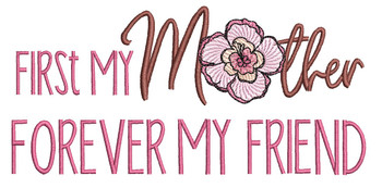 """First My Mother with Hibiscus -  Fits a  5x7"""" & 6x10"""" Hoop - Machine Embroidery Designs"""