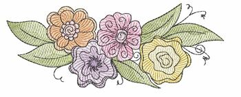 """Whimsical Floral Swag -  Fits a 4x4"""", 5x7"""" & 6x10"""" Hoop - Machine Embroidery Designs"""