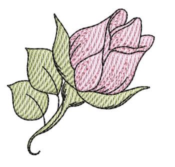 "Rosebud -  Fits a 4x4"" Hoop - Machine Embroidery Designs"