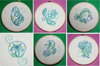Sea Creatures Bundle - Machine Embroideries Design