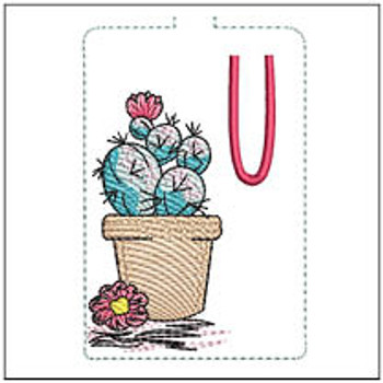 "Prickly Pear ABCs Keychain - U - Fits a 5x7"" Hoop - Machine Embroidery Designs"