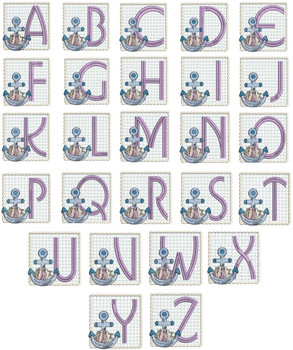 Sea Anchor ABCs - Bundle - Embroidery Designs