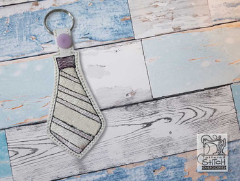 """Tie Key Chain - Fits a 4x4"""" Hoop - Machine Embroidery Designs"""