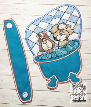 "Pups N Suds Towel Topper -  Fits 5x7""Hoop - Machine Embroidery Designs"