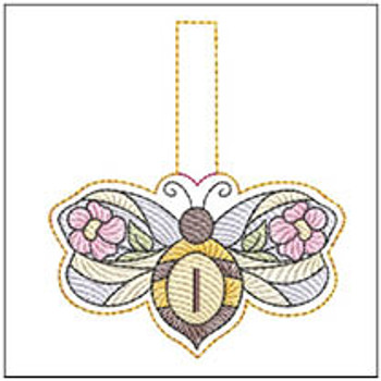 """Bee Charm ABCs - I - Fits a 4x4"""" Hoop - Machine Embroidery Designs"""