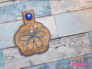 """Sand Dollar Charm- Fits a 4x4"""" Hoop - Machine Embroidery Designs"""