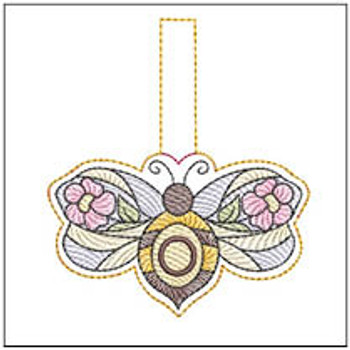 """Bee Charm ABCs - O - Fits a 4x4"""" Hoop - Machine Embroidery Designs"""