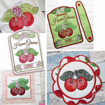Cherries Bundle  - Machine Embroidery Designs