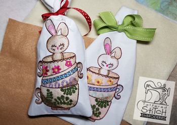 Bunny Bag - In the Hoop Gift Bag - Embroidery Designs