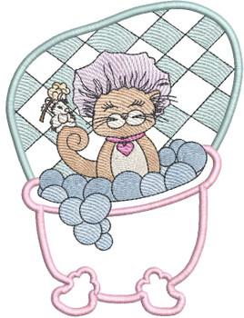 "Tiny Bubbles Label/Applique  Fits a 5x7 & 6x10"" Hoop - Machine Embroidery Designs"