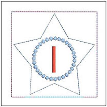 "Patriotic Sachet ABCs - I -  Fits a 4x4"" Hoop - Machine Embroidery Designs"