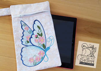 Butterfly Tablet Bag 6x10 -In the Hoop -Embroidery Designs