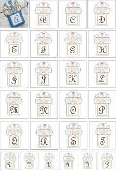 """Present Gift Card Holder ABCs - Bundle - Fits a   5x7"""" Hoop - Machine Embroidery Designs"""