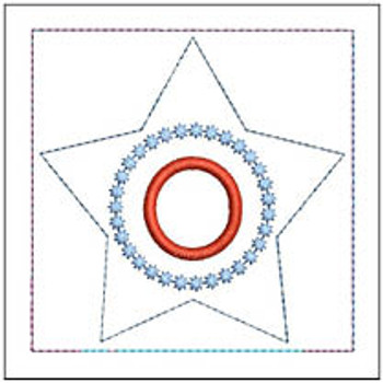 """Patriotic Sachet ABCs - O -  Fits a 4x4"""" Hoop - Machine Embroidery Designs"""