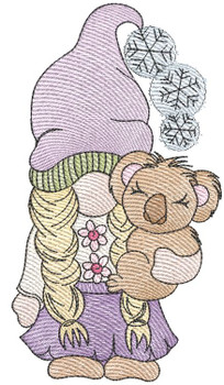 """Gnome with Koala -  Fits a 4x4, 5x7 & 6x10""""  Hoop - Machine Embroidery Designs"""