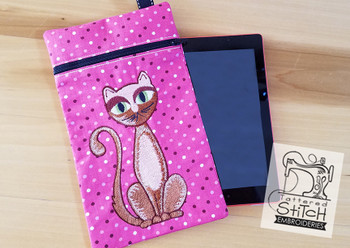 Sweet Kitty Tablet Bag 6x10 -In the Hoop-Embroidery Designs