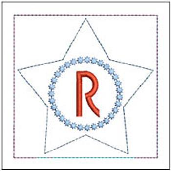"Patriotic Sachet ABCs - R -  Fits a 4x4"" Hoop - Machine Embroidery Designs"