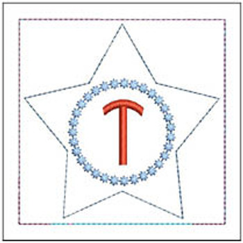 "Patriotic Sachet ABCs - T -  Fits a 4x4"" Hoop - Machine Embroidery Designs"