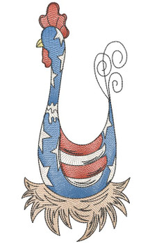 """Rooster- Fits a 4x4"""", 5x7 & 6x10"""" Hoop - Machine Embroidery Designs"""