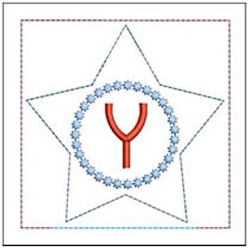 "Patriotic Sachet ABCs - Y -  Fits a 4x4"" Hoop - Machine Embroidery Designs"
