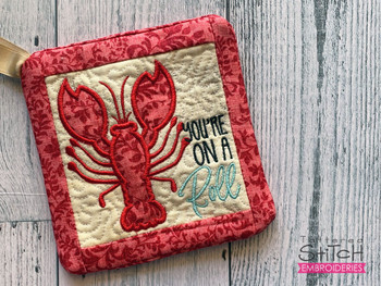 """You're on a Roll - Pot Holder- Fits a 6x6 & 8x8"""" Hoop - Machine Embroidery Designs"""