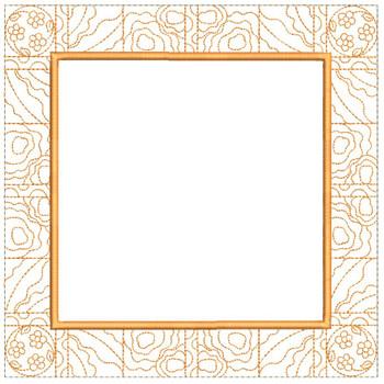 "Tea Cup/Pot Quilt Block Background - Fits a  5x5"", 6x6"", 7x7"", 8x8"" & 10x10""  Hoop - Machine Embroidery Designs"