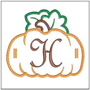"Pumpkin Banner ABCs - H -  Fits a 5x7"" Hoop - Machine Embroidery Designs"