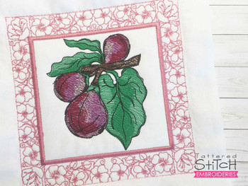 """Figs Quilt Block-Fits a  5x5"""", 6x6"""", 7x7"""", 8x8"""" & 10x10""""  Hoop - Machine Embroidery Designs"""