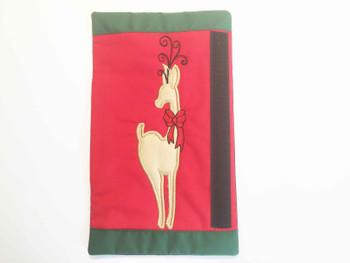 """Reindeer Fridge Door Handle Wrap -  Fits a  6x10"""", 8x12""""""""  Hoop - Machine Embroidery Designs"""