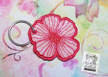 Flower Key Fob - In the Hoop - Embroidery Designs