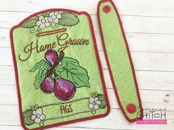 """Figs Towel Topper -  Fits 5x7""""Hoop - Machine Embroidery Designs"""
