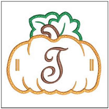 "Pumpkin Banner ABCs -T -  Fits a 5x7"" Hoop - Machine Embroidery Designs"
