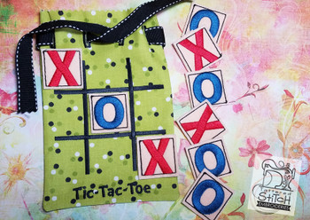 Tac-Tac-Toe Game Bag -5x7 - In The Hoop - Embroidery Designs