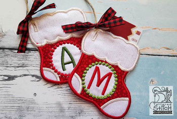 Stocking Monthly Advent Calendar 1-25 - Embroidery Designs
