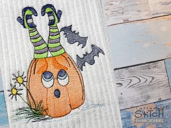 "Pumpkin Feet  -  Fits a 4x4, 5x7 & 8x8""  Hoop - Machine Embroidery Designs"