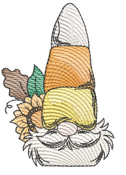 Candy Corn Gnome -  Fits a 4x4 & 5x7  Hoop - Machine Embroidery Designs
