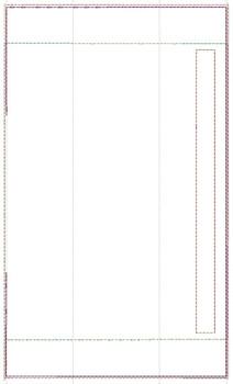 "Blank Fridge Door Handle Wrap -  Fits a  6x10"", 8x12""""  Hoop - Machine Embroidery Designs"