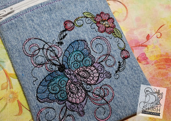 Butterfly Tablet Bag -In the Hoop - 5x7 - Embroidery Designs