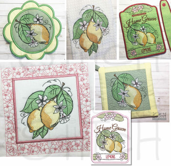 Lemons Bundle  - Machine Embroidery Designs