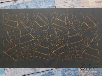 "Candy Corns Edge to Edge Quilt Block  -  Fits a 4x4"", 5x5""  6x6"", 7x7"", 8x8"" & 10x10""  Hoop - Machine Embroidery Designs"