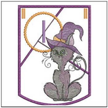 Halloween Cat ABC's Bunting - I - Machine Embroidery