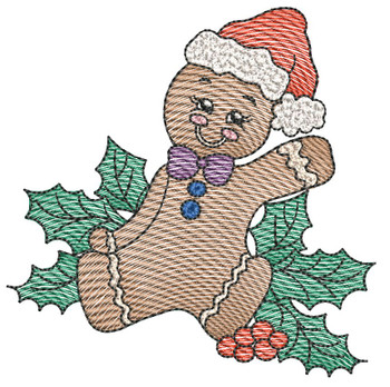 """Gingerbread Man -  Fits a 4x4 & 5x7""""Hoop - Machine Embroidery Designs"""