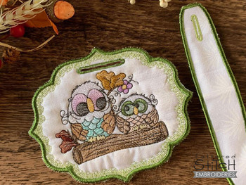 Owls on Branch Bundle   - Instant Downloadable Machine Embroidery - Light Fill Stitch
